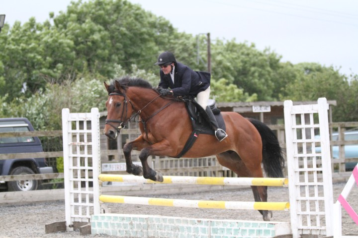 Sally Burchell 1st time competing in Show Jumping Qualifier
